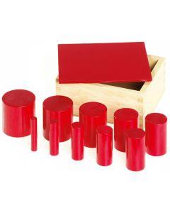 Farbige Merkmal-Zylinder