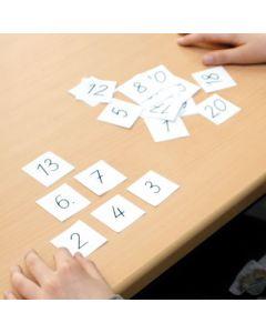 Zahlenkarten 0 bis 20 Materialpaket