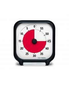TimeTimer® Tischmodell schwarz  7,5 x 7,5 cm