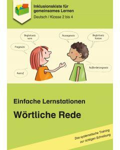 Einfache Lernstationen: Wörtliche Rede PDF