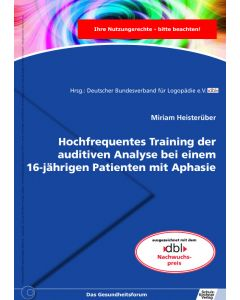 Hochfrequentes Training auditiver Analyse eBook