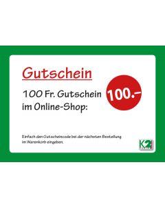 K2 Einkaufsgutschein 100 Franken