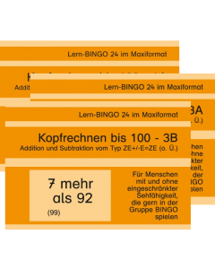 Lern-BINGO Addition Subtraktion bis 100 PDF