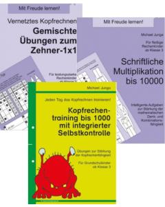 Rechnen bis 1000 und höher Übungspakete PDF