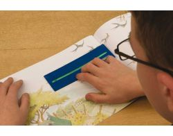 Lesefenster mit Farbeinlagen